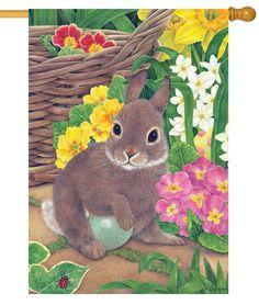 IAmEricas Flags - Bunny Hiding Egg House Flag, $24.00 (http://www.iamericasflags.com/bunny-hiding-egg-house-flag/)