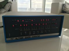 Playing with my vintage Altair 8800 ( it works perfectly ). The MITS Altair 8800 is a microcomputer designed in 1974 based on the Intel 8080 CPU and the first programming language for the machine was Microsoft's Basic.