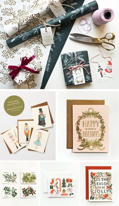 Oh my gosh! I just adore Rifle Paper. Here's some of her beautiful holiday designs.