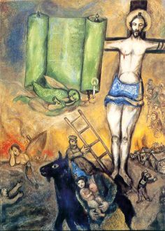Marc Chagall – Crocifissione in giallo, 1938-42. Parigi, Centre Pompidou