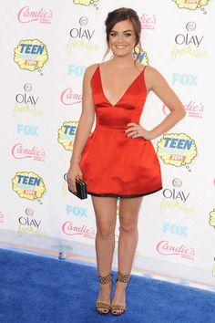 Loving Lucy Hale in red.