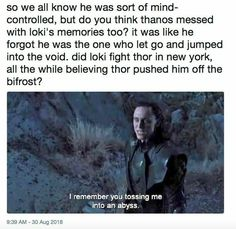Read these & marvel memes hilarious the avengers Marvel Jokes, Avengers Memes, The Avengers, Loki Thor, Loki Laufeyson, Marvel Fan, Marvel Dc Comics, Marvel Heroes, Marvel Avengers