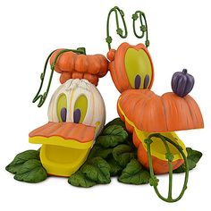 Light-up Donald Duck and Pluto Jack O'Lantern | Figurines & Keepsakes | Disney Store: $200