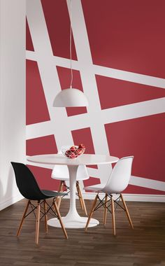 SICO PAINTS | Did you know that red spurs conversation and whets the appetite? That's why it's perfect for the kitchen and dining room. Try geometric lines for a trendy, modern touch.