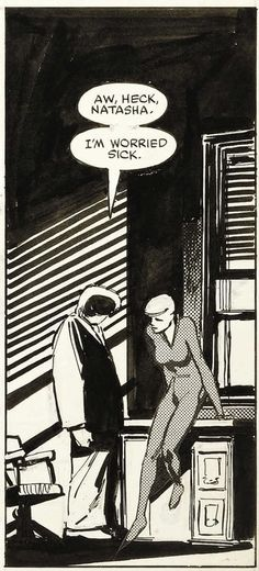 Foggy Nelson and the Black Widow, by Frank Miller and Klaus Janson. Daredevil #189.