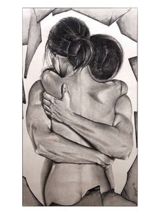 "Artist: Surajit Chatterjee; Charcoal 2012 Drawing ""Love"""