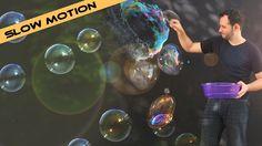 Confira as imagens sensacionais das bolhas de sabão em câmera lenta