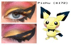 Pichu, the Tiny Mouse Pokémon. A pre-evolved form of Pikachu. Despite their size, Pichu release bursts of electricity that can . Cosplay Makeup, Cosplay Costumes, Pokemon Makeup, Pokemon Halloween, Gijinka Pokemon, Pokemon Cosplay, Body Modifications, Pikachu
