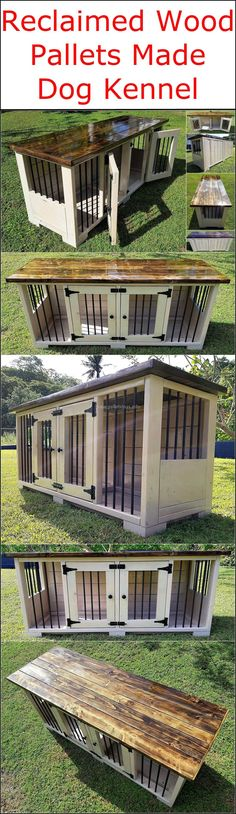 This stunning repurposed pallet dog kennel design is presented to craft and place in your garden area so that your lovely dog can enjoy and feel relaxed at the same place. This awesome pallets innovation will definitely provide your dog a feel of maximum protection as well as comfort in his place. #Woodworking