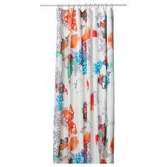 TALLHOLMEN Shower curtain - IKEA  great water colour look!