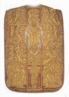 Chasuble, so-called 'chasuble angelique' French Design: Gaspard Poncet Production: J.A. Henry, Lyon Date: 1890 (design)