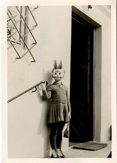 """I never get tired of people dressed as animals, or animals dressed as people. (from the """"Creepy Little World"""" blog)"""