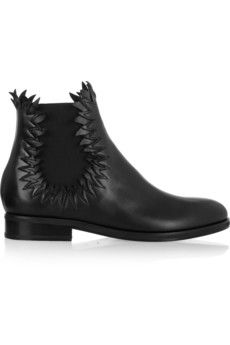 Alaïa Flame-detailed leather ankle boots | NET-A-PORTER