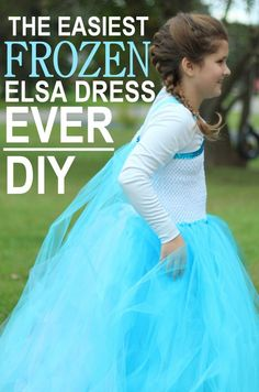 Diy no sew elsa costume halloween pinterest elsa costumes and the easiest diy elsa dress ever solutioingenieria Choice Image