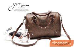 $19.90 for Ladies Coffee Round Bucket Handbag Sling Bag (BN0016); Limited Stock Offer! | Singapore Group Buying - NiceDeal.SG nice way to sa...