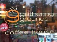 great name for a church coffee shop...  [I thought our town's new coffee shop belongs in our new church building - whenever that happens!]