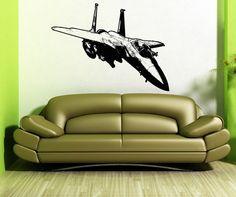 Vinyl Wall Decal Sticker Flying F15 Jet 5100s