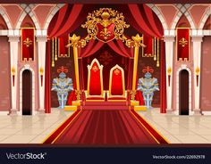 Compra imágenes y fotos : Door of the castle and windows, ancient rich medieval artwork with royal armor of knight guard. Image with throne of the king on the palace. Flags of fantasy fairy queen. Royal Background, Cartoon Background, Living Room Clipart, Fancy Living Rooms, Episode Interactive Backgrounds, Line Art Vector, Living Room Background, Fairy Queen, Throne Room