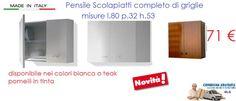 Mobile pensile Scolapiatti cm 80