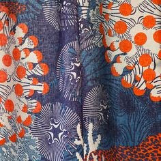 Marimekko spring/summer 2015 home collection. / The Merivuokko (sea anemone) pattern was inspired by designer Kustaa Saksi's scuba diving trip in Vietnam. The rhythm, colours and atmosphere of the sea floor fascinated him, so he drew a pattern that depicts the depth and abstract, clear forms of the sea and details of its flora and fauna. #marimekko #ss15