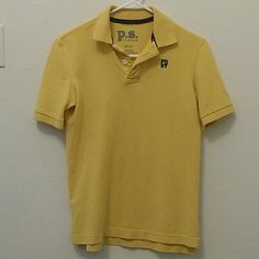 AERO for boys M (10) Its a pretty yellow. Collared shirt from P.S. M (10). In great condition Aeropostale Tops Tees - Short Sleeve