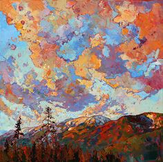 Over the Crest Painting by Erin Hanson - Over the Crest Fine Art Prints and Posters for Sale