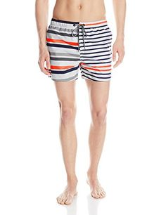 3a44e82168c4 Amazon.com  French Connection Men s Casual Printed Swim Short
