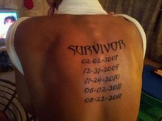 Adonis age 14. the dates represent the day he was diagnosed each time with cancer.