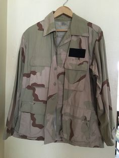 ARMY CAMO COAT DESERT CAMOUFLAGE PATTERN COMBAT MEDIUM REGULAR