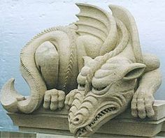 Dragon - limestone sculpture by Jonathan Hedge = year of the dragon