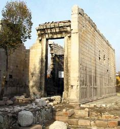 The Monumentum Ancyranum in Ankara, Turkey. (Temple of Augustus and Rome in Ancyra - 25-20 BC)