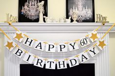 Happy Birthday banner wine red Birthday garland por DCBannerDesigns