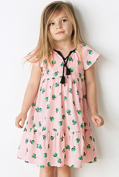 In cotton voile with a pretty floral print, tassel front tie and ruffle details Dope Outfits, Kids Outfits, Fashion Outfits, Young Fashion, Kids Fashion, Country Style Outfits, Dresses Kids Girl, Little Girl Fashion, Clothing Patterns