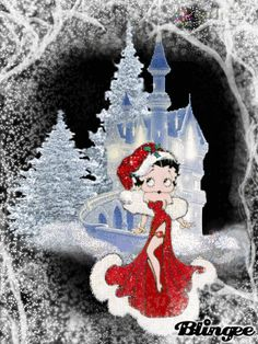 Betty boop, Winter and Search on Merry Christmas Gif, Christmas Time, Xmas, The Real Betty Boop, Betty Boop Birthday, Happy New Year Animation, New Year Wishes Images, Welcome December, Boop Gif