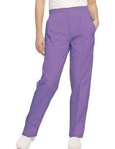 Style Code: A scrub pant, which has a covered elastic waistband. It also features reinforced pocekts with stitched crease for tailored look. Landau Uniforms, Medical Scrubs, Scrub Pants, Drawstring Pants, Elastic Waist, Pants For Women, Pajama Pants, Fitness, Sewing Patterns