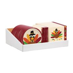 Turkey Fun 36 Pk LN / 7 Plate Counter Display