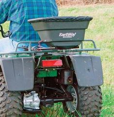 If you've got serious spreading of seed, fertilizer, chemicals, or anything else to do, the M80 is the one you need. It comes with a high-volume hopper capable of hauling 250 pounds of material riding on a stainless steel chassis that is perfect for mounting in the bed of your UTV. The spreader is powered by a 12V motor housed in a thermoplastic case and it is electronically controlled by EarthWay's Exclusive Electronic Control Module. This a great feature and it allows you to remotely turn…
