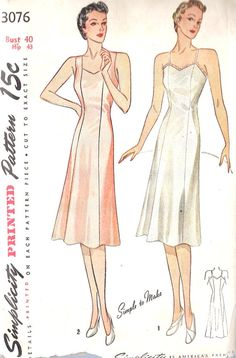 1940s Womens Plus Size Slip Vintage Sewing by MissBettysAttic, $25.00