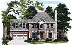 Plenty of Storage Space (HWBDO08250) | Colonial House Plan from BuilderHousePlans.com