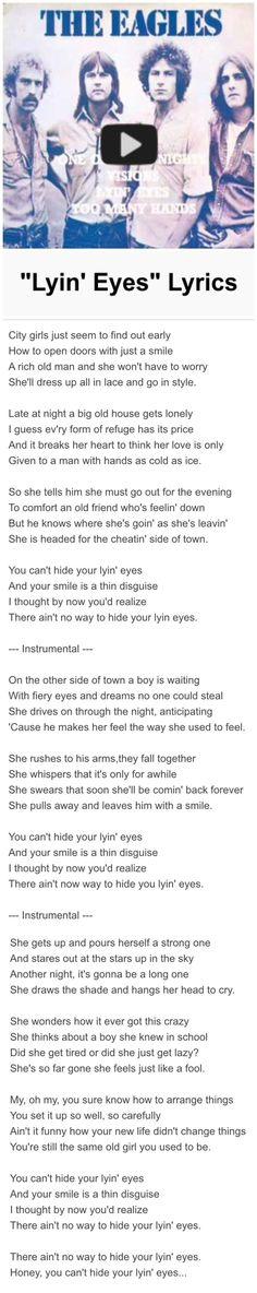 Lyin' Eyes - The Eagles