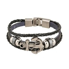 Buy Vintage Mens Metal Anchor Steel Studded Surfer Leather Bracelet online at Lazada. Discount prices and promotional sale on all. Free Shipping.
