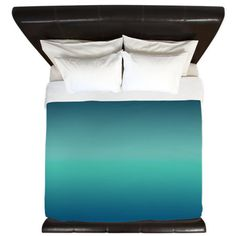 Teal Blue Green Ombre Duvet Cover/ Comforter by KaliLaineDesigns