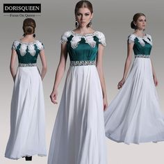 Dorisqueen New Fashion Prom Dresses 2014_____ Luxurious A-line Cap Sleeves Long Formal Evening Dresses 30906