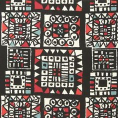 Porin puuvilla fabric by Raili Konttinen (1955-59)