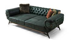 Zümrüt Metal Koltuk Takımı - Modern Koltuk Takımları - Berke Mobilya Tufted Sofa, Chesterfield Sofa, Sofa Drawing, Living Room Sofa Design, Living Rooms, Luxury Sofa, Love Seat, Art Deco, Couch