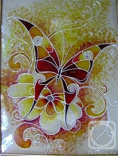 Pintura. Stained Glass Flowers, Faux Stained Glass, Stained Glass Designs, Stained Glass Patterns, Bottle Painting, Silk Painting, Stone Painting, Sea Glass Mosaic, Mosaic Art