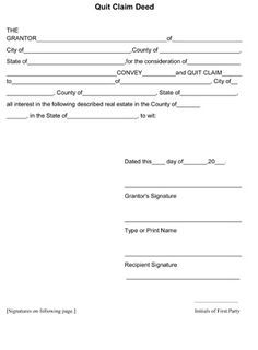 How to file a quitclaim deed in indiana ehow home information quit claim deed form free quit claim deed template with sample thecheapjerseys Choice Image