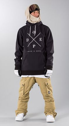 """Dope """"Yeti Black"""" Snowboard clothing Skii Outfit, Mens Ski Clothes, Stylish Mens Outfits, Cool Outfits, Snowboarding Style, Manga Clothes, Mens Skis, Snow Fashion, Winter Hiking"""