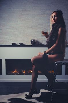 Winter time , Fireplace , Cognac& a BEAUTIFUL wife. this is all u need. (Not my Wife,my GF is MORE Beautiful) :)