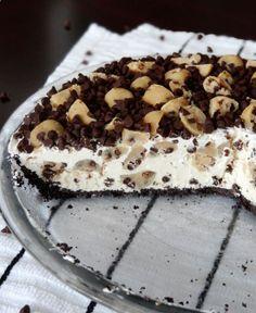 Chocolate Chip Cookie Dough Ice Cream Pie -- food heaven .